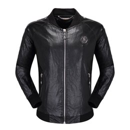 $enCountryForm.capitalKeyWord Australia - Mens Designer Jacket Leather Hommes Leather Coat Fashion Style Motorcycle Thick Jacket Windbreaker Leather Waterproof Brand Jacket