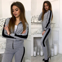 Slimming Womens Casual Suit NZ - ZOGAA Women Casual Tracksuit Outfits Two Piece Set Women Slim Fit Sweatsuit Womens 2 Piece Set Sweat Suits Tracksuit