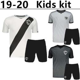 62afa6f43 kids kit Top quality 2019 2020 Liga Mx Club de Cuervos 19 20 Soccer Jersey  Gray black white Mexico Home Away 3RD Football Jerseys kit