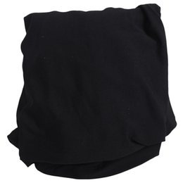 chair stools Australia - Solid Color Soft Polyester Spandex Dining Stool Chair Cover Slipcover Black Chair Covers