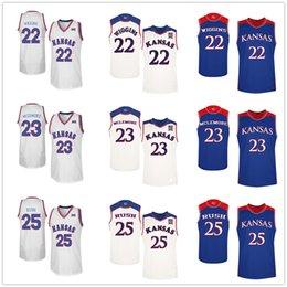 0cb4d8f15f08 Kansas Jayhawks College Andrew Wiggins  22 Ben McLemore  23 Brandon Rush   25 Basketball Jerseys Mens Stitched Custom Any Number Name