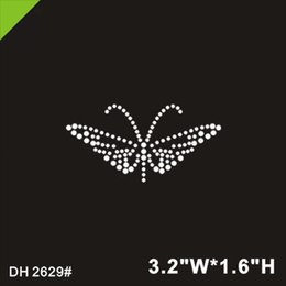 ee7a0de4 Free shipping Butterfly design hot fix motif ,rhinestone transfer, heat transfer  rhinestone motif, iron on strass motif DIY DH2629#