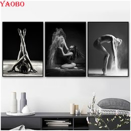 $enCountryForm.capitalKeyWord Australia - 3pcs Full Square Round Diamond Embroidery Sexy Dancing Girl 5d Diy Diamond Painting Cross Stitch Kit Mosaic picture Wall Sticker