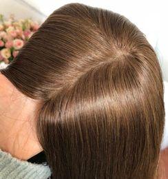 Long Fine Hair NZ - Band Fall Wigs 4x4 Silk Top Closure Jewish Wig 12A Grade Finest Virgin European Hair Kosher Wig Capless Wigs Free Shipping