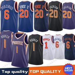 Knicks jerseys 20 Knox Kevin 6 Porzingis Kristaps 1 Booker Devin Josh 20  Jackson Ayton 22 DeAndre 100% Stitched Jersey a2e142f21