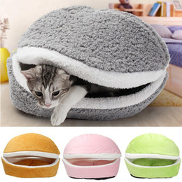 Multi Color Hand Bag Australia - Removable Cat Sleeping Bag Sofas Mat Hamburger Dog House Short Plush Small Pet Bed Warm Puppy Kennel Nest Cushion Pet Products