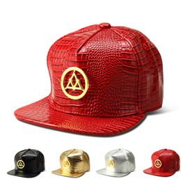 Discount dj hat - DHL ups TNT ship Vogue Triangle Crocodile hip hop rap PU Hats Gold Rhinestone Street DJ Money Baseball Caps men women Sp