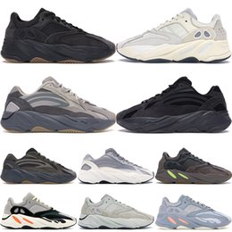 Discount gold designer sneakers - 2020 New 700 V2 Wave Runner Inertia Tephra Solid Grey Utility Black Vanta Runing Shoes Men Designer Shoes Women Static S