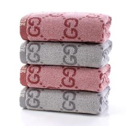 Toptan satış 35 * 75 cm 2020 çift yıkama yüz pamuk havlu gri iki renk moda basit banyo havlusu yumuşak ve rahat bir malzeme kırmızı