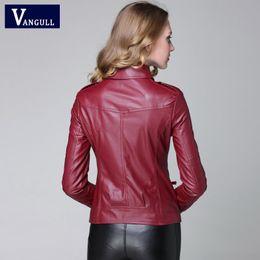 $enCountryForm.capitalKeyWord Australia - Wholesale-2014 new leather jacket women Winter Women Coat Short Zipper Motorcycle Jacket Pu Leather Clothes outerwear free shipping brazil