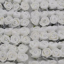 $enCountryForm.capitalKeyWord Australia - bouquet Diameter About 20mm 144Pcs Artificial Silk Mini Foam Rose Pearl Flower Bouquets Wedding Decoration DIY Scrapbooking Craft