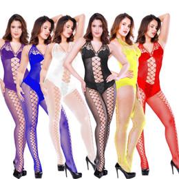 Großhandel Sexy Wäsche-Frauen Erotische Dessous Hot Sex Produkte Sexy Kostüme Farbe Unterwäsche Slips Netzs Intimates Kleid Nachtwäsche Drop-Shipping
