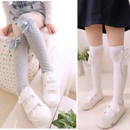 e0d5f31ad CuteCute Cartoon Cotton Baby Kids Girls Stocking Toddlers Knee High Socks  Tights Bow Warm Floral Stocking