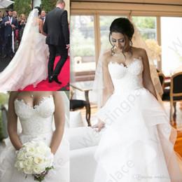 $enCountryForm.capitalKeyWord Australia - 2019 Modern A Line Wedding Dresses Sweet Heart Sexy Backless Ruffles Sweep Train Lace Beach Bridal Gowns