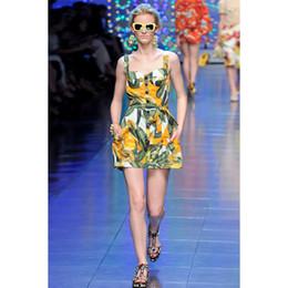 2019 diseñador de pista de lujo vestido de mujer de impresión sin mangas de diamantes botón de la correa de espagueti mini vestido casual fiesta de fiesta vestido