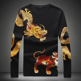 $enCountryForm.capitalKeyWord NZ - Men's Chinese Dragon Sweater 2019 High Fashion Tiger Printing Autumn Winter Men Pullover Sweaters 4XL Long Sleeve Shirt 9841