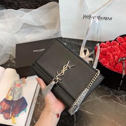$enCountryForm.capitalKeyWord Australia - TOP Quality genuine leather handbag shoulder bags Classic ladies messenger Gold hardware chain Round fabric 0323