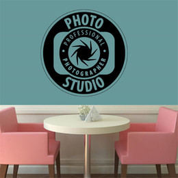 bedroom wall sticker photos NZ - Photo Studio Wall Decal Photography Vinyl Wall Sticker Camera Decor Art Poster For Shop Window Removable Wallpaper