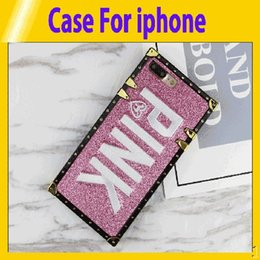 $enCountryForm.capitalKeyWord Australia - Luxury Embroidery 3D Pink Letter Case For iphone 6 7 8 Plus Glitter Metal Square Phone Cases for iPhone X XR XS Max retail1