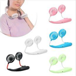 Vente en gros Ventilateur de cou suspendu paresseux USB mini-ventilateur de coude suspendu
