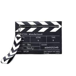 $enCountryForm.capitalKeyWord NZ - Black & White Fashion Movie Prop Design Pu Leather Casual Women's Clutch Bag Envelope Bag Shoulder Crossbody Messener #140130