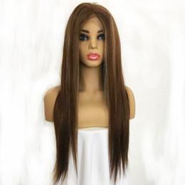 Toptan satış Piyano Renk kadın Peruk Ipek Taban 4X6 Inç Gerçek İnsan Saç 8-26 inç İnsan Saç Peruk Kadınlar için Ücretsiz Kargo