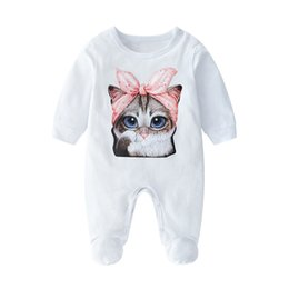 $enCountryForm.capitalKeyWord Australia - 0-3 Month Infant Baby Rompers INS Fashion Summer TUTU Rompers Cute Cat Printed Sleepwear For Baby Newborn Baby Jumpsuits