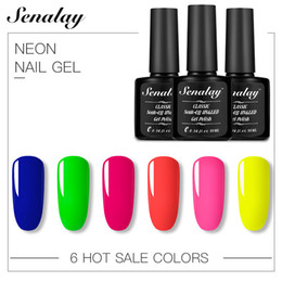 summer gel nail art 2019 - 10ML Summer Series Colorful Nail Polish Fluorescence Neon Nail Art Varnish Design Yellow Lacquer uv Color Gel Manicure c