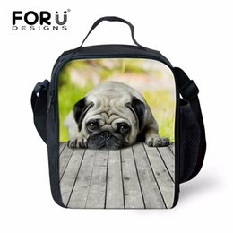 $enCountryForm.capitalKeyWord Australia - FORUDESIGNS Kawaii Animals Dogs Thermal Insulation Bag Pug Bulldogs Pet Cooler Lunch Box for Kids Girls Travel Picnic Carry Bag