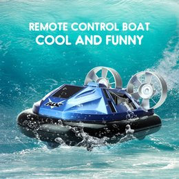 $enCountryForm.capitalKeyWord Australia - Amphibious RC Boat Mini 2.4G Racing Speedboat Remote Control Interactive Education Toy RC Model Ship For Children Birthday Gifts