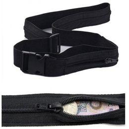 Hide Wallet Australia - Money Belt Waist Pack Mens Women Waist Pack Travel Anti Theft Wallet Belt with Secret Compartment Hiding Stash Money Bag #31560