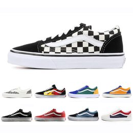 97c79e5f951 Cheap Brand Vans old skool fear of god men women canvas sneakers classic  black white YACHT CLUB red blue fashion skate casual shoes