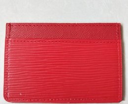$enCountryForm.capitalKeyWord Australia - New Card Holders classic red black Card ID holder high quality leather for men women little bags wallet Coin Purses free shopping
