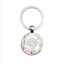 $enCountryForm.capitalKeyWord Canada - Cross-border jewelry wholesale Classic men and women Spanish Bible Lord's Prayer Pattern Time Gemstone Keychain Wholesale
