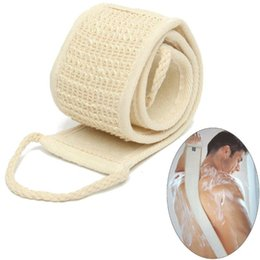 $enCountryForm.capitalKeyWord UK - 1PC Natural Soft Exfoliating Loofah Back Strap Bath Shower Unisex Massage Spa Scrubber Sponge Body Skin Health Cleaning Tool 3207