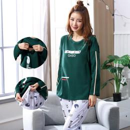 10fa51104bd6a Nursing Pajamas NZ - Breastfeeding pajama breast feeding nightwear  maternity pajamas nursing set maternity nursing sleepwear