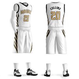 Venta al por mayor de Conjuntos de baloncesto personalizados para hombres misma estrella John Collins Camisetas de baloncesto personalizadas para equipos universitarios para niños Adultos Ben Simmons # 00DIY Impreso Baske