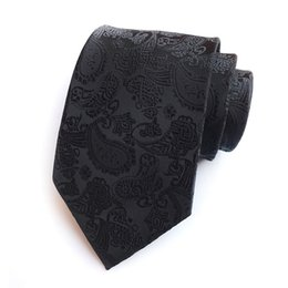solid gold music UK - New Classic Paisley Gold JACQUARD WOVEN 100% Silk Men's Tie Necktie