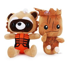 home birthday supplies Australia - Guardians of the Galaxy Plush Stuff Toy 22CM Plush Doll Tree Groot 25CM Rocklet Raccoon Stuffed Toy for Children Christmas Gift Party Supply