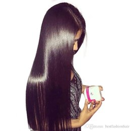 $enCountryForm.capitalKeyWord Australia - Straight Lace Front Wig Long Straight Glueless Human Hair Lacefront Virgin Peruvian Silky Straight Full Lace Wigs For Black Women