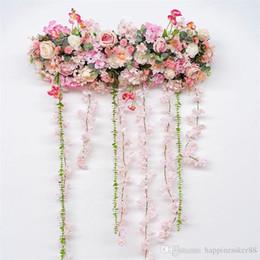 $enCountryForm.capitalKeyWord NZ - 1M DIY wedding decor artificial flower row with Wisteria arch T-road lead background flower wall studio window props row 2 types ALFF