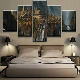 $enCountryForm.capitalKeyWord NZ - Lord of The Rings Rivendell,5 Pieces Canvas Prints Wall Art Oil Painting Home Decor (Unframed Framed)