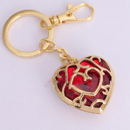 $enCountryForm.capitalKeyWord Australia - DHL 2 colors The Legend of Zelda heart crystal pendant necklace and keychains red Blue love shape key chain necklace