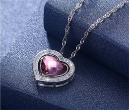 $enCountryForm.capitalKeyWord Australia - Below 10cm Independent Packaging Silver Pendant Necklaces Red Heart African Chain Necklace For Women High Quality Jewelry Silver Necklaces