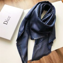 $enCountryForm.capitalKeyWord Australia - 2019 latest style brand scarf wool silver line shawl fashion luxury women's scarf 140*140 cm