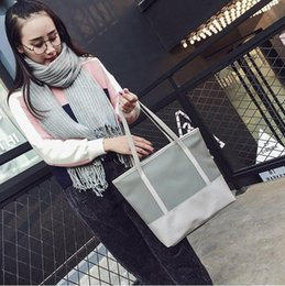 cloth bag stitching NZ - women handbag waterproof Oxford cloth with silk stitching shoulder bag large capacity contrast tote bag fashion leather shopping bag