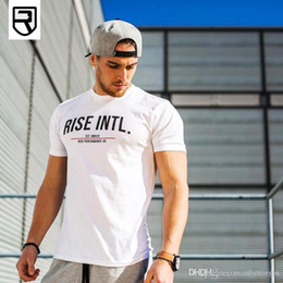 White Workout Shorts Australia - Men Short sleeve t shirt Summer Workout Fitness Bodybuilding Slim shirts male Fashion Casual white Print cotton Tees clothing