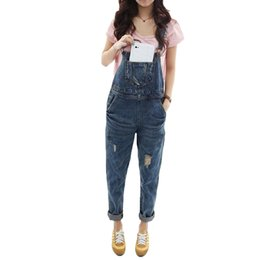 069291e1c792 Slim Denim Jeans Hole Loose Jumpsuits Overalls For Women Plus Size  Sleeveless Bodysuits Suspenders Playsuit Rompers With Pockets