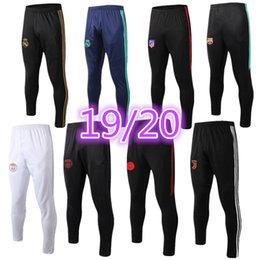 Vente en gros un pantalon long 2019 2020 marseille pantalon de football aj Real Madrid DANGER chandal futbol jogging avion Paris pantalon de football MBAPPE