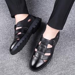 $enCountryForm.capitalKeyWord Australia - Men Sandals Genuine Leather Sandals Men Outdoor Casual Leather For Beach Shoes Roman Shoes Plus Size 38-47